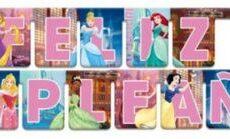 Guirnalda Feliz Cumpleaños Princesas - Verbetena