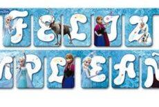 Guirnalda Feliz Cumpleaños Frozen