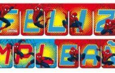 Guirnalda Feliz Cumpleaños SPIDERMAN - Verbetena