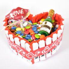 tarta de chocolatinas día de enamorados