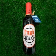 Botella de vino Papá molon