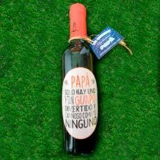 Botella de vino papá solo hay uno tan guapo