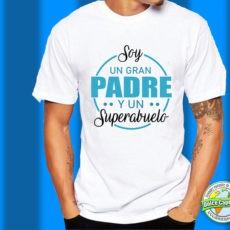 Camiseta Soy un gran padre y un Superabuelo