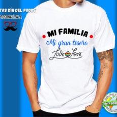 Camiseta mi familia mi gran tesoro