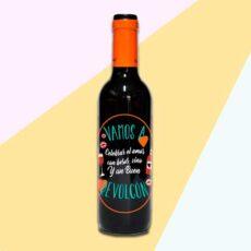 Botella de vino vamos a celebrar el amor