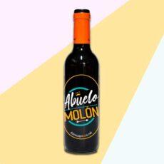 botella de vino personalizada para regalo de abuelo