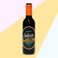 Botella de vino jubilado molón