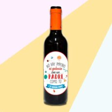 Botella de vino personalizada para regalo de padre