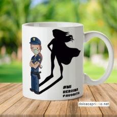 Taza - Heroína Policia Coronavirus