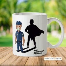 Taza - Superhéroe Policia Coronavirus