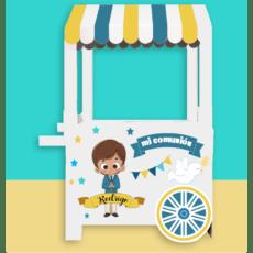 carrito candy bar para niño relleno de chuches y gominolas