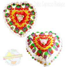 tarta corazon de gominolas