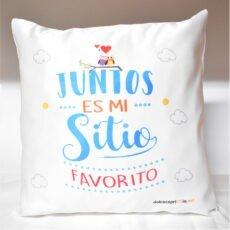 Cojín Juntos es mi sitio Favorito (2)