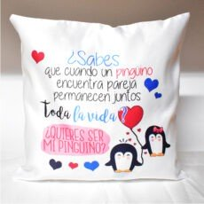 Cojín Quieres ser mi pinguino (2)