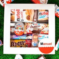 caja repleta de chocolatinas