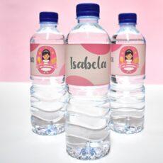 Botella de agua personalizada de comunión nilña