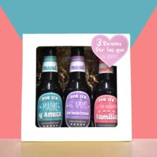 Caja con cervezas personalizada día de la madre