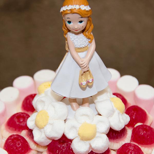 tarta para centro de mesa de niña para comunión