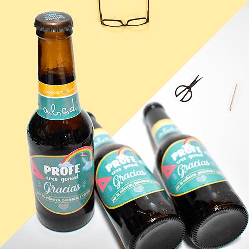 Regalo para profesor - Botellas de cerveza para profesor