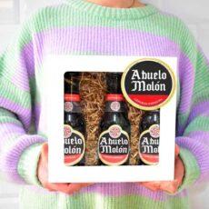 Caja con cervezas de abuelo molón regalo para abuelo