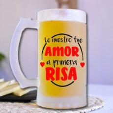 Jarra de cerveza lo nuestro fue amor a primera risa