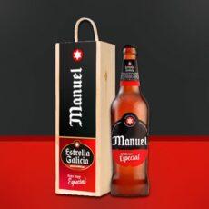 Estuche de cerveza personalizada de estrella galicia