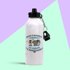 Botella de aluminio por ti mataría un elefante a chanclazo