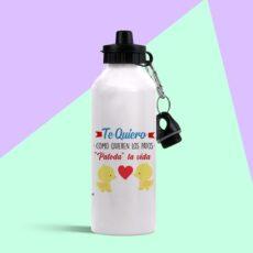 Botella de aluminio te quiero patoda la vida